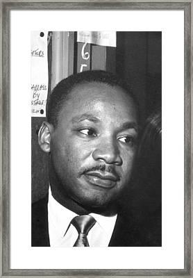 Martin Luther King, Jr Framed Print by Joseph De Casseres