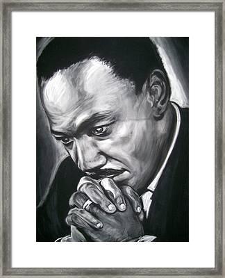 Martin Luther King Jr Framed Print by Martha Suhocke