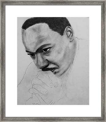 Framed Print featuring the drawing Martin Luther King Jr. Mlk Jr. by Michael Cross