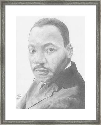 Martin Luther King Framed Print by Olivia Schiermeyer