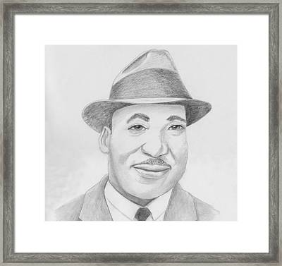 Martin Luther King Sketch Framed Print