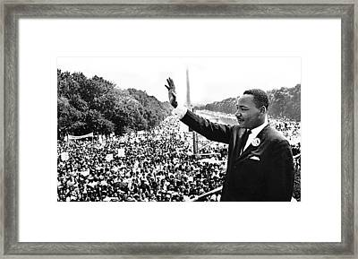 Martin Luther King The Great March On Washington Lincoln Memorial August 28 1963-2014 Framed Print by David Lee Guss