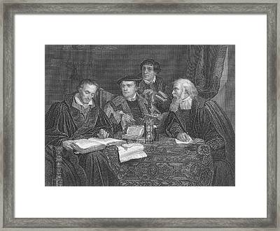 Martin Luther  The German Religious Framed Print by Mary Evans Picture Library