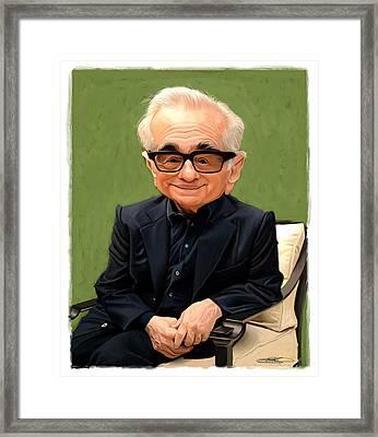 Martin Scorsese Framed Print by Sri Priyatham