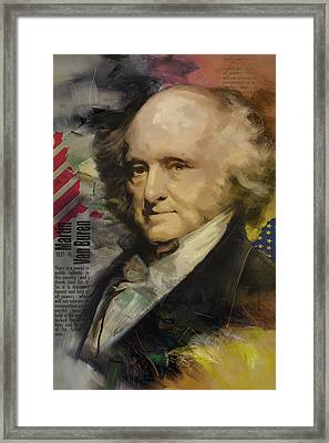 Martin Van Buren Framed Print by Corporate Art Task Force