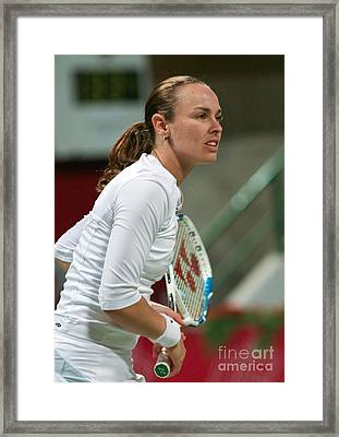 Martina Hingis In Doha Framed Print