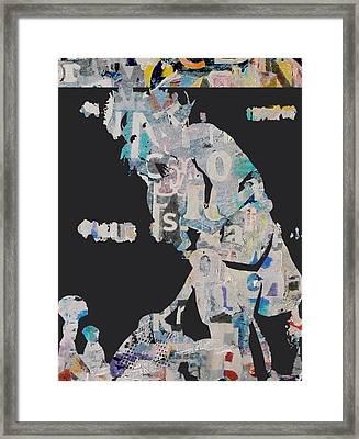 Martina Navratilova Framed Print by Shawn Hughes