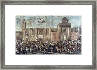 Martinez, Domingo 1688-1749. Chariot Framed Print