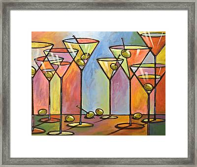 Martini Bar ... Abstract Alcohol Art Framed Print by Amy Giacomelli
