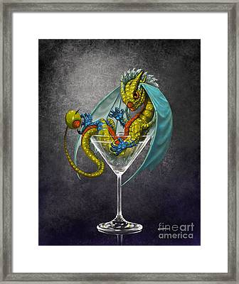 Martini Dragon Framed Print