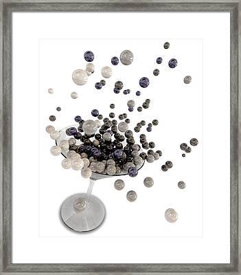 Martini Glossy Spheres Framed Print by Allan Swart