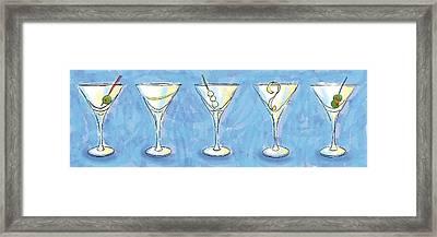 Martini Lunch Framed Print