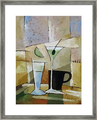 Martini Framed Print by Lutz Baar
