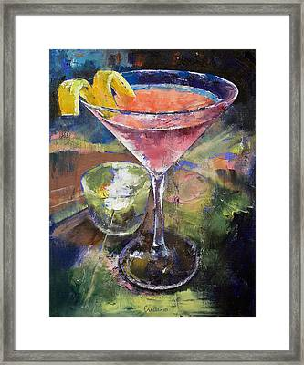 Martini Framed Print by Michael Creese