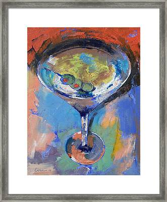 Martini Oil Painting Framed Print