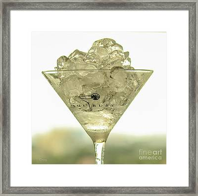 Martini On The Rocks Framed Print by Rene Triay Photography
