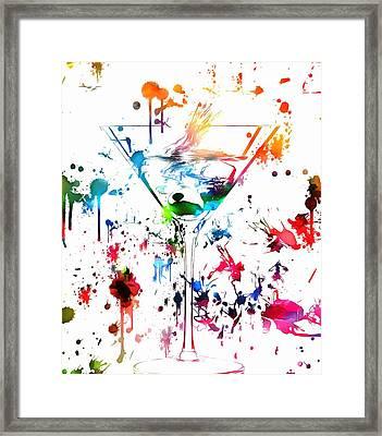 Martini Paint Splatter Framed Print by Dan Sproul