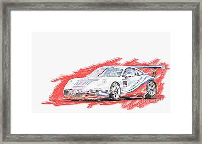 Martini Porsche 911 Gt3 Framed Print