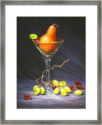 Martini Framed Print by Sean Taber