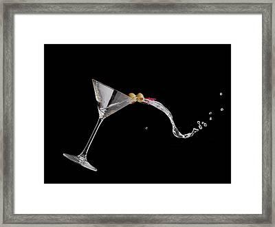 Martini Spill Framed Print