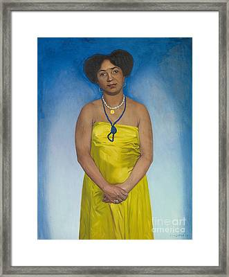 Martiniquaise Framed Print by Felix Edouard Vallotton