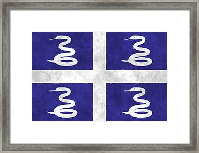 Martinique Flag Framed Print by World Art Prints And Designs