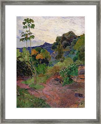 Martinique Landscape, 1887 Oil On Canvas Framed Print