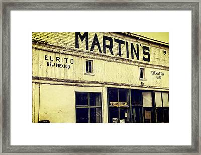 Martins General Store Framed Print