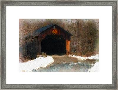 Martinsville Covered Bridge Framed Print by Mike Martin