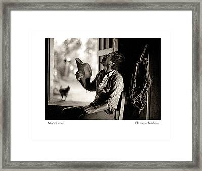 Framed Print featuring the photograph Martir Lopez by Tina Manley