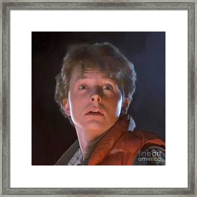 Marty Mcfly Framed Print by Paul Tagliamonte