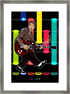 Marty Mcfly Plays Guitar Hero Framed Print by Akyanyme