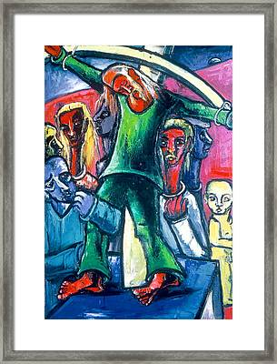 Martyrdom Miniature On Stand Framed Print by Kenneth Agnello