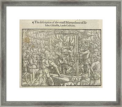 Martyrdom Of Sir John Oldcastle Framed Print by British Library