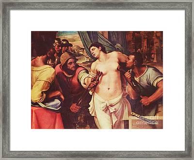 Martyrdom Of St Agatha Framed Print