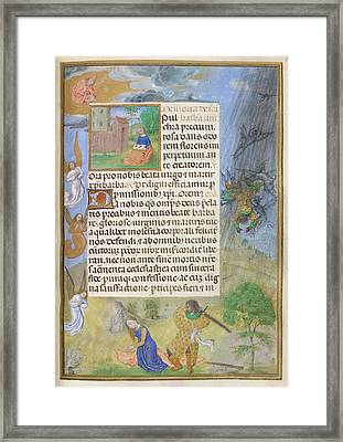 Martyrdom Of St Barbara Framed Print by British Library