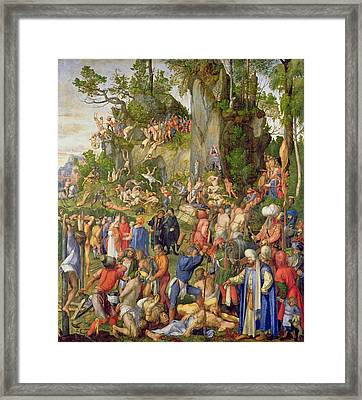 Martyrdom Of The Ten Thousand, 1508 Framed Print