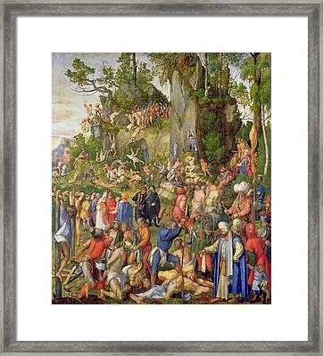Martyrdom Of The Ten Thousand, 1508 Framed Print by Albrecht Durer or Duerer