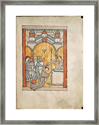 Martyrdom Of Thomas Becket Framed Print