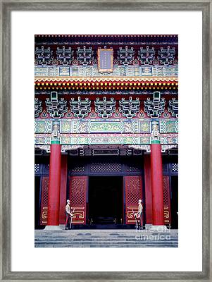 Martyrs' Shrine In Taipei Framed Print by Anna Lisa Yoder