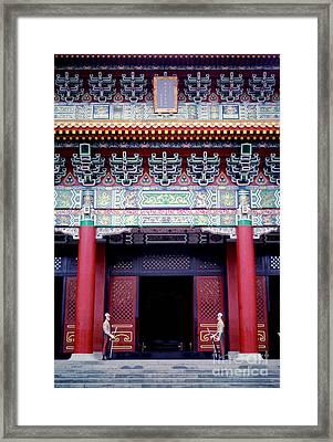 Martyrs' Shrine In Taipei Framed Print by Anna Lisa Yoder