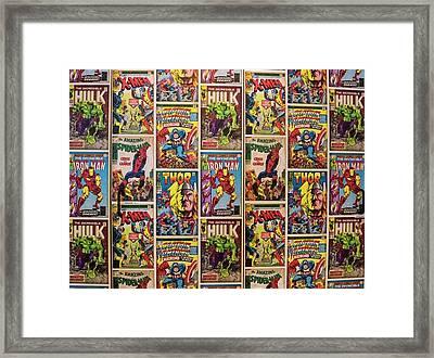 Marvel Comics Heroes Framed Print