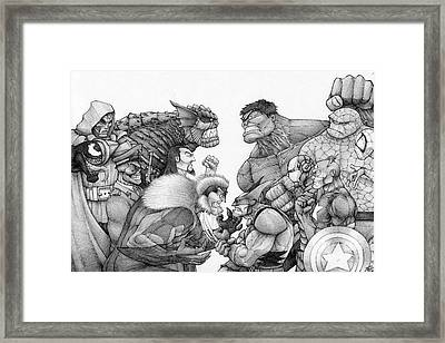 Marvel Group Framed Print by Rui Guerreiro