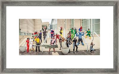 Marvel Universe C2e2 2013 Framed Print by Andreas Schneider