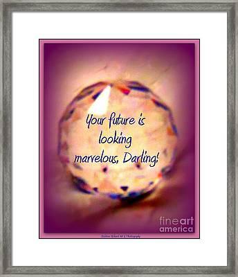 Marvelous Darling Framed Print by Bobbee Rickard