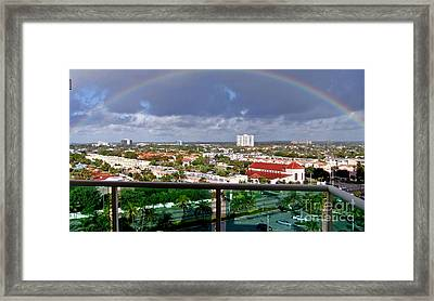 Marvelous Rainbow Framed Print by Vic  Mastis