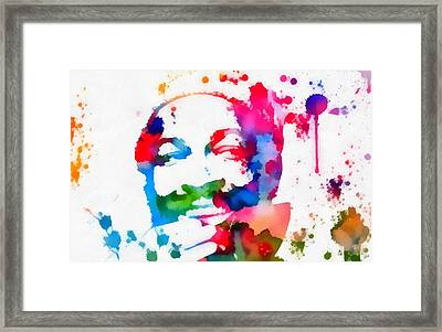 Marvin Gaye Paint Splatter Framed Print by Dan Sproul