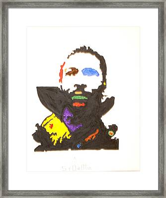 Framed Print featuring the painting Marvin Gaye by Stormm Bradshaw