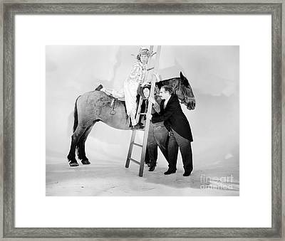 Marx Brothers - A Day At The Races - Groucho Harpo And Chico Marx Framed Print by MMG Archive Prints