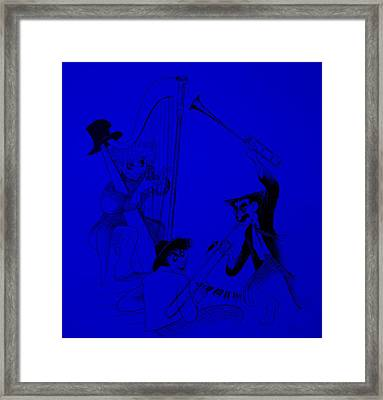 Marx Brothers Blue Framed Print by Rob Hans